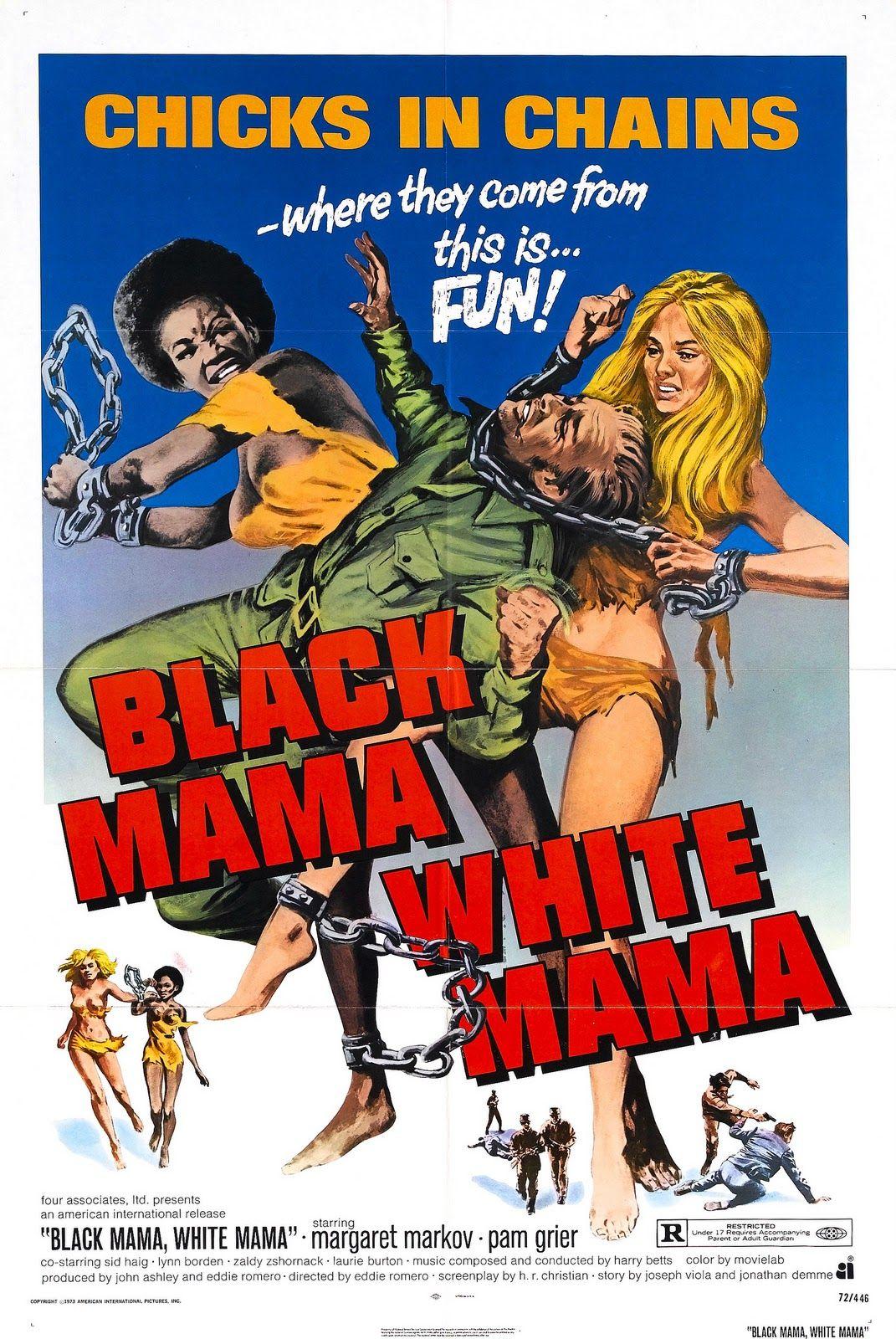 Black Mama White Mama Blaxploitation 70s Poster Exploitation Black Mama Movie Posters Vintage Movie Posters