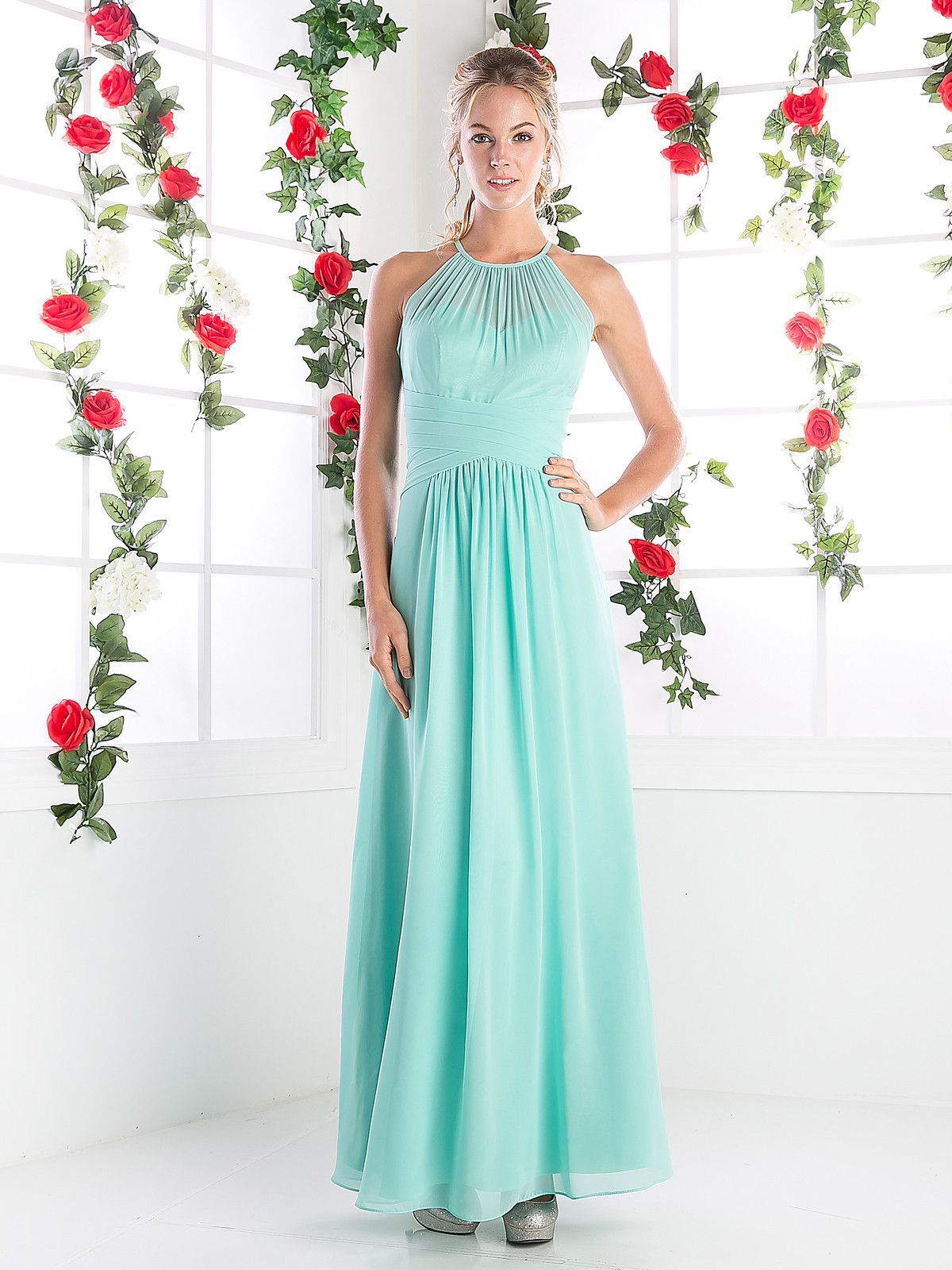 Halter Overlay Evening Dress by Cinderella Divine CH1501   Kleider