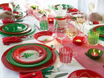 Decoraci n mesa navide a sencilla navidad pinterest for Decoracion de mesa navidena