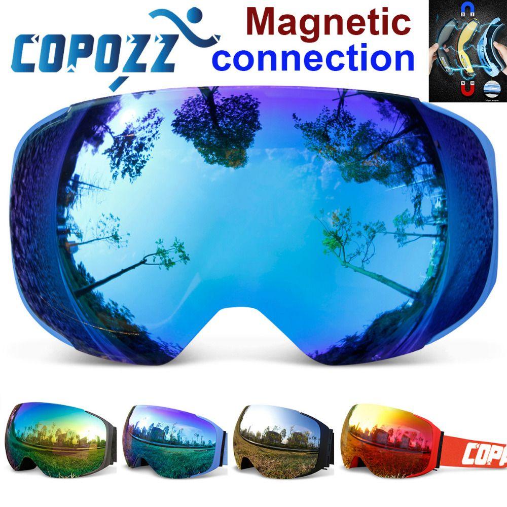 b577fe3a8441 COPOZZ brand ski goggles replaceable magnetic lenses UV400 anti-fog ski  mask skiing men women snow snowboard goggles  3 Peut être consulté en  cliquant sur ...