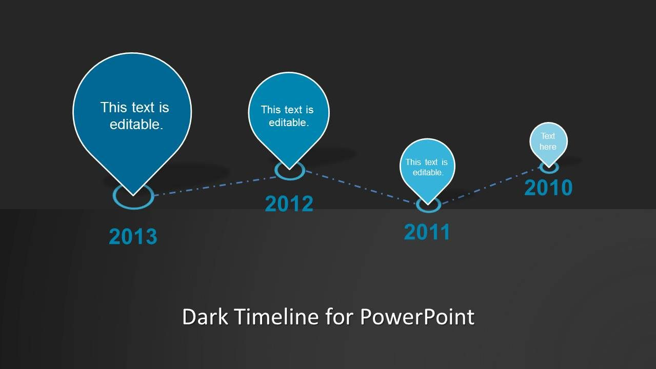 Clean Timeline Template For Powerpoint Dark  Timeline Design