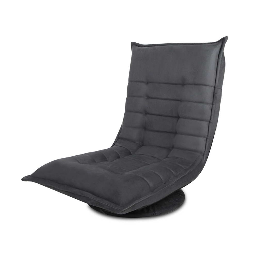 Good Lounge Recliner Single Sofa Bed W/ Swivel Base Chaise Chair Oxford Fabric  Charcoal