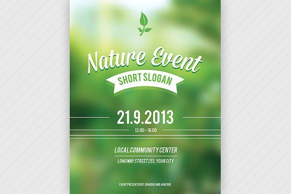 Nature Event Flyer PSD b @creativework247 Flyer Templates - event flyer