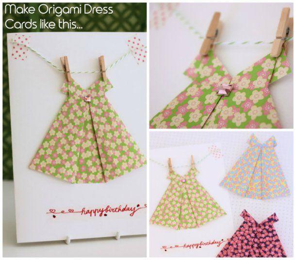 Origami Dress Cards Tutorial