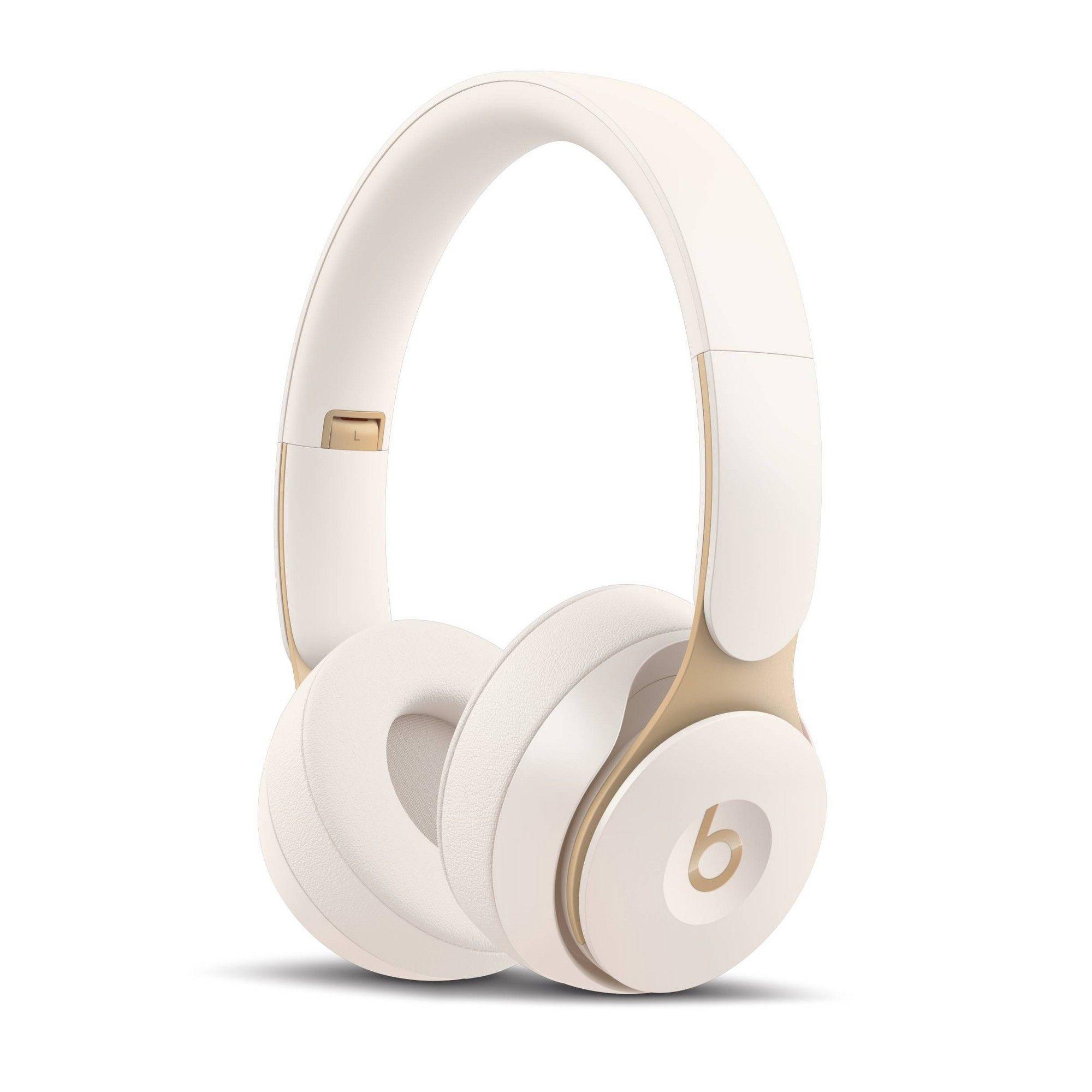 Beats Solo Pro On Ear Wireless Headphones Ivory In 2021 Headphones Noise Cancelling Wireless Headphones