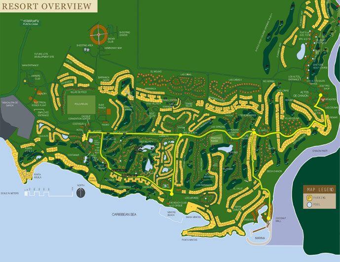 Dominican Republic Resort Map - Casa de Campo Resort - La Romana Map on