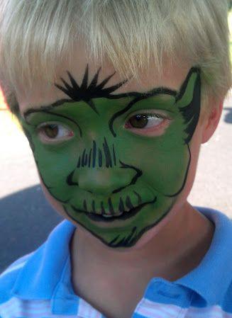 Yoda Face Paint Darth Vader Face Paint Kids Face Paint Darth Vader Face