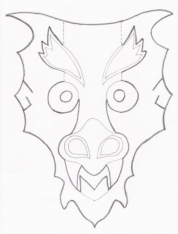 Mask Template Dragon Mask Template By Codenameeternity On