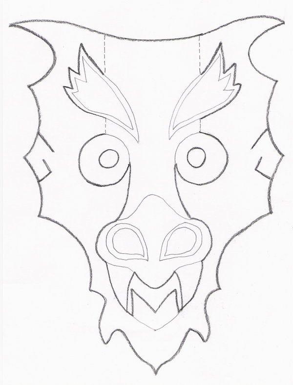photograph relating to Printable Dragon Mask named mask template Dragon Mask Template through *CodenameEternity upon