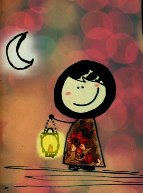 مرحب شهر الصوم رمضاننا أحلى Islamic Cartoon Ramadan Kareem Ramadan Cards