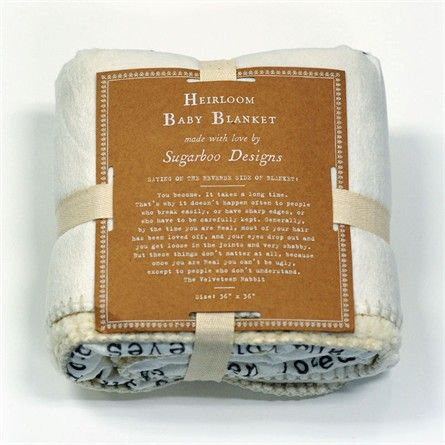 The Velveteen Rabbit Baby Blanket Heirloom Baby Blankets