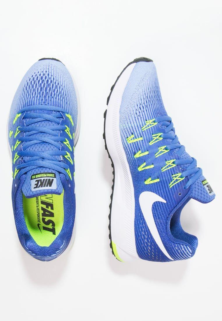 dividir Procesando prisa  Tilaa ilman lähetyskuluja Nike Performance AIR ZOOM PEGASUS 33 -  Juoksukenkä/neutraalit - medium blue/white/alumi…   Nike,  Medium blue, Sport running