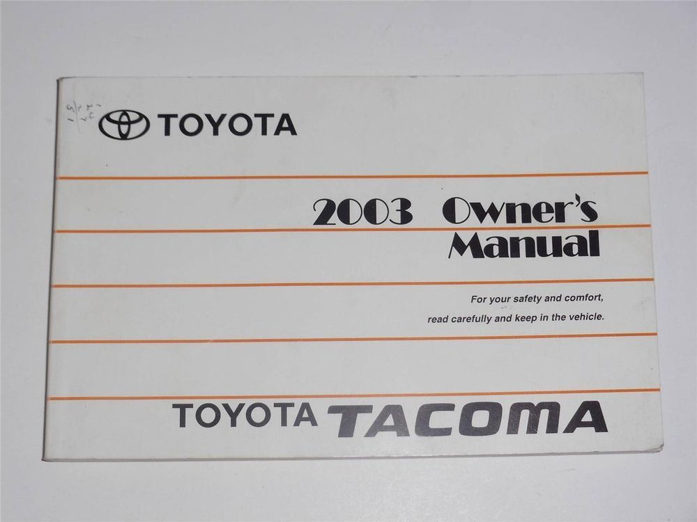 2003 toyota tacoma owners manual book owners manuals pinterest rh pinterest com 2003 toyota tacoma service manual 2000 toyota tacoma owners manual download