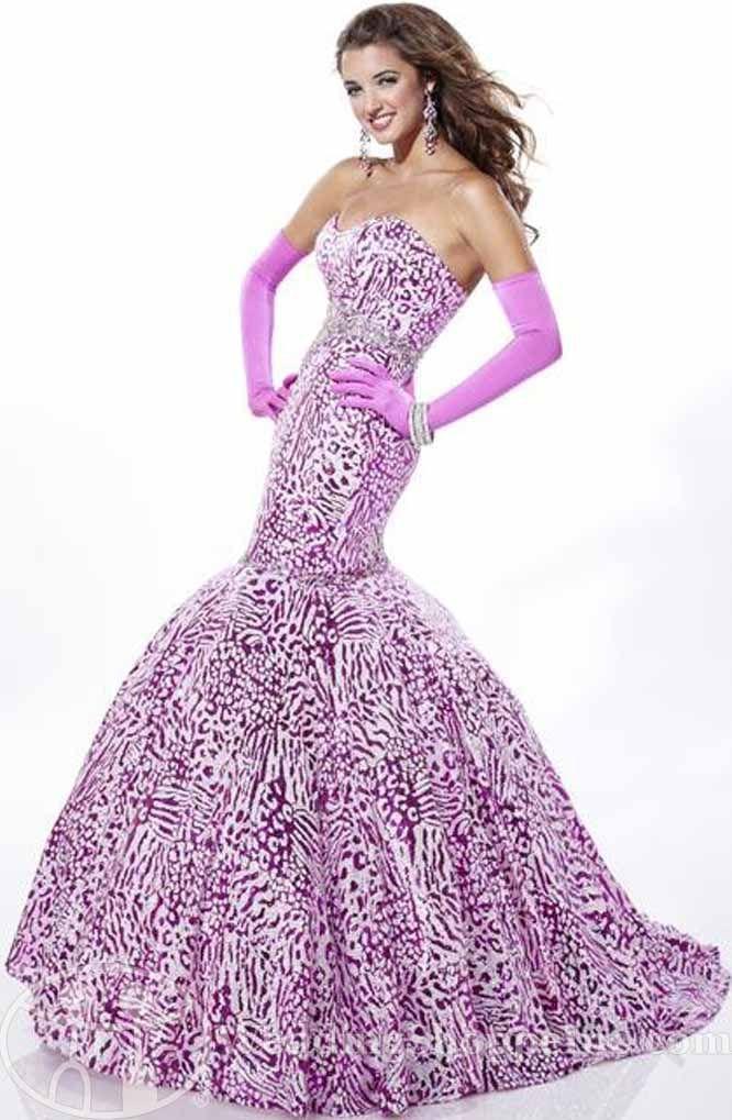 Leopard Prom Dresses 2012