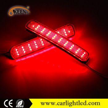 Taillight 12v Led Rear Bumper Reflector Light Red Lens Material