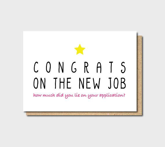 Funny New Job Card Funny Farewell Card Funny Good Luck Card New