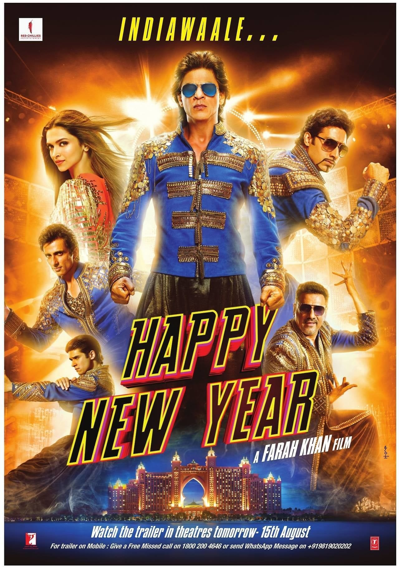 Happy New Year full movie Hd1080p Sub English Play For Free Happy New Year Movie Happy New Year Bollywood New Year Movie