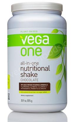 Plant Protein Smoothie: Spinach, Blueberries, and Vega One Protein Powder. #vegasmoothie #bestsmoothie