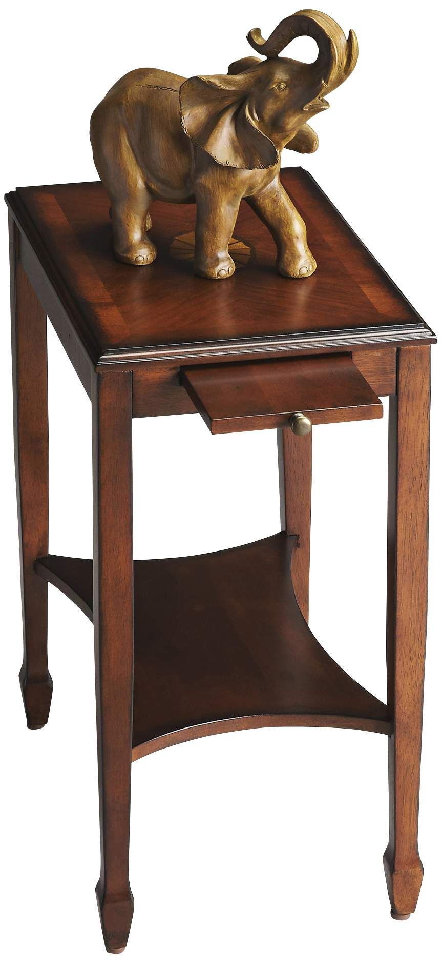 Tables Masterpiece 12 Wide Olive Ash Burl Traditional Side Table Side Table Burled Wood Distressed End Tables