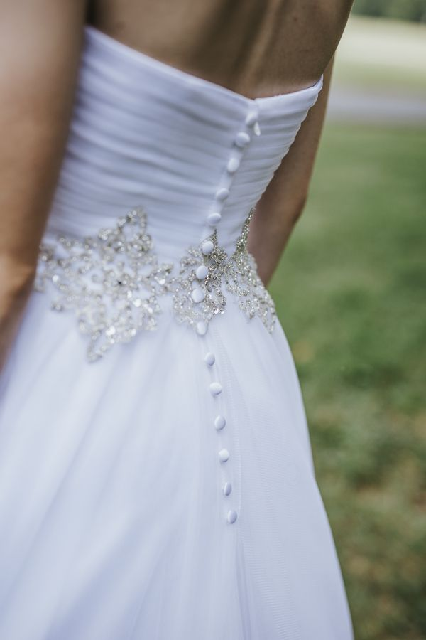 Beautiful Gold Detailing On Wedding Dress Charlotte Vendors Purple Rustic Outdoor Clic Photography By Kevyn