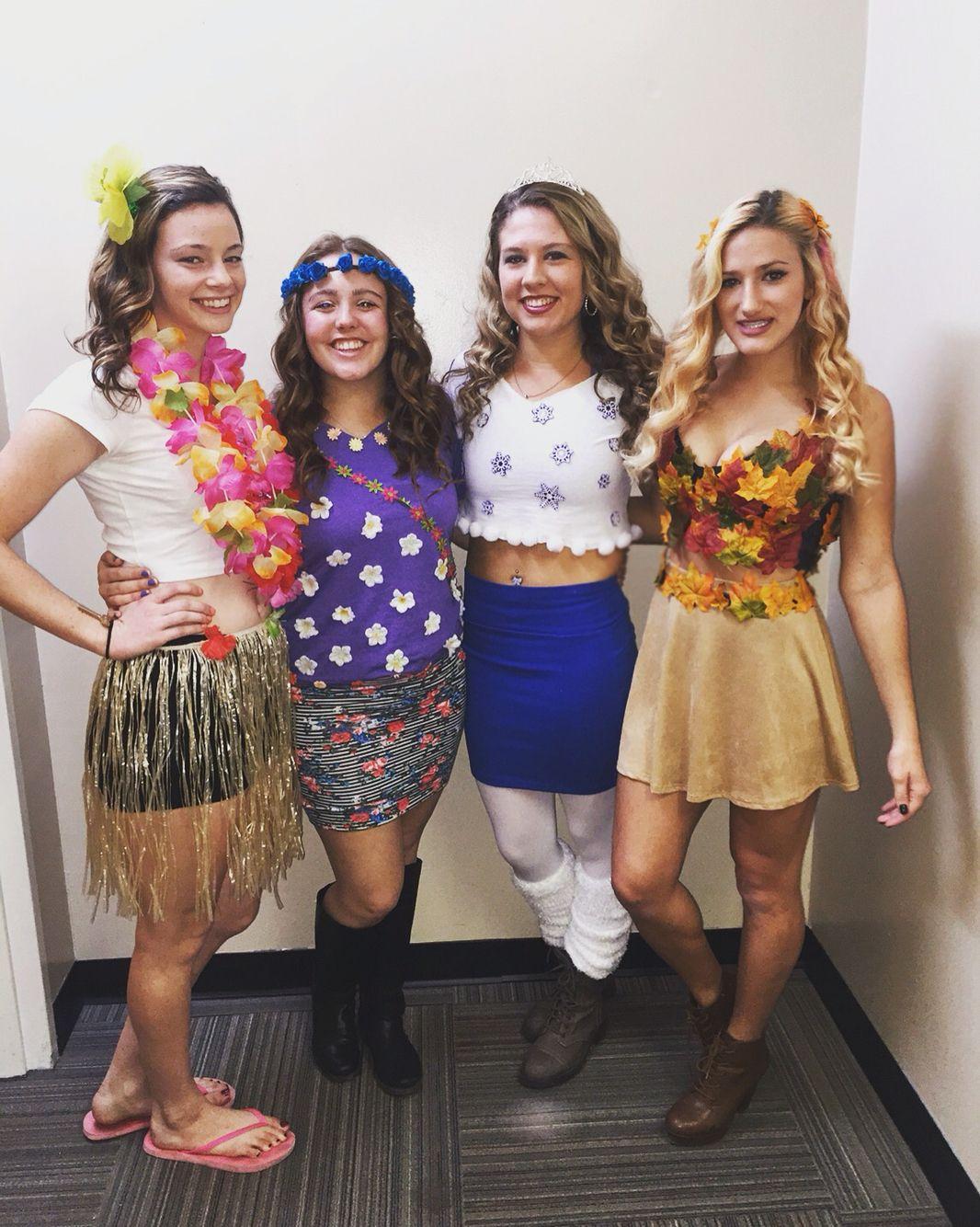 DIY group Halloween costume the four seasons Halloween