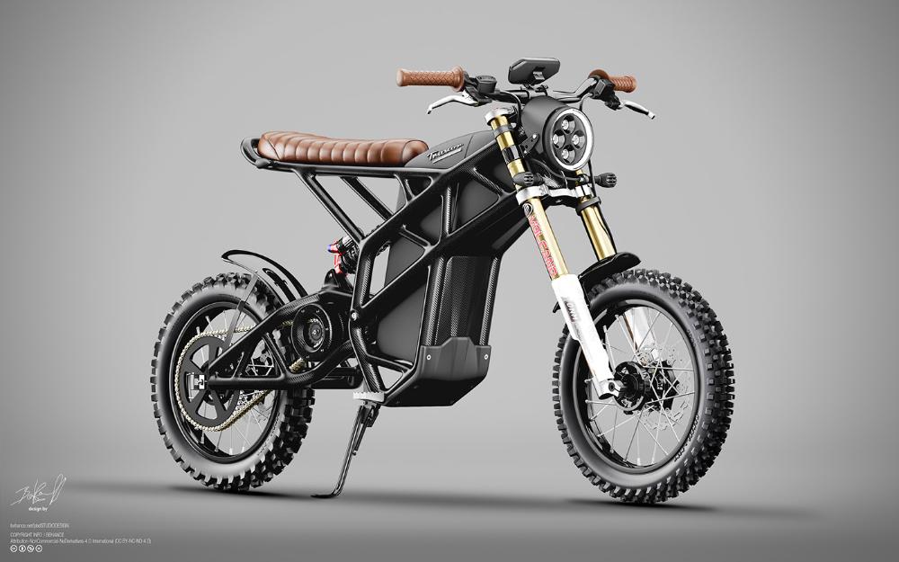 Truvor Electric Custom Scrambler On Behance In 2020 Electric Motorbike Electric Motorcycle Electric Bike