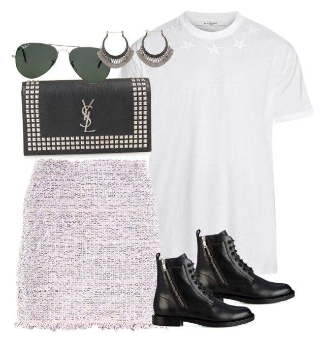 """""""Untitled #2227"""" by erinforde ❤ liked on Polyvore featuring Givenchy, Yves Saint Laurent, Balenciaga and Ray-Ban"""