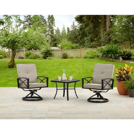 Bristol X Arm 3 Piece Aluminum Leisure Set Walmart Com Better Homes And Gardens Patio Set Outdoor Decor