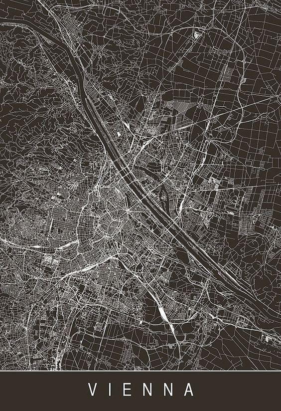 Архитектура Sky Architect Vienna map, Map art, City