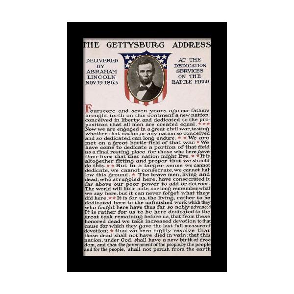 image regarding Gettysburg Address Printable called Gettysburg Cover Framed Print inside 2019 Goods Framed