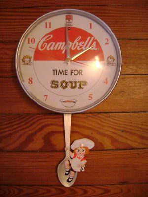Campbell Soup Kids Retro Wall Clock Musical Rare