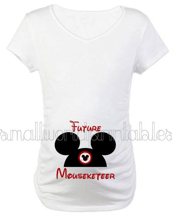 5a2fda8b88a50 INSTANT DOWNLOAD Future Mouseketeer hat by SmallWorldPrintables Disney  Maternity, Disney Pregnancy Shirt, Maternity Fashion