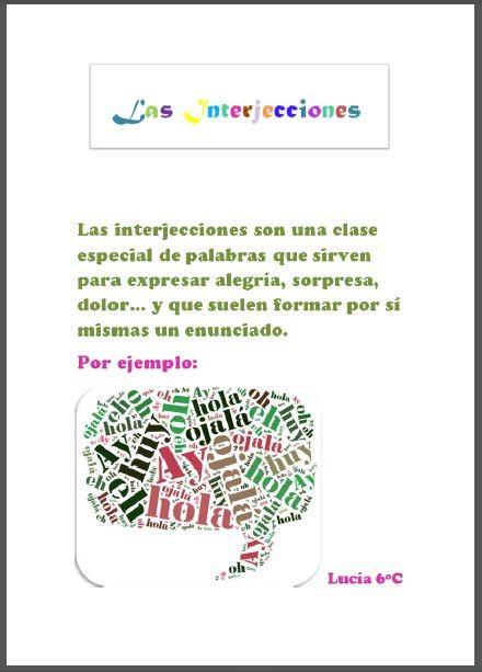 Aventura TIC 2.0: Pósters: las interjecciones | INTERJECCIONES ...