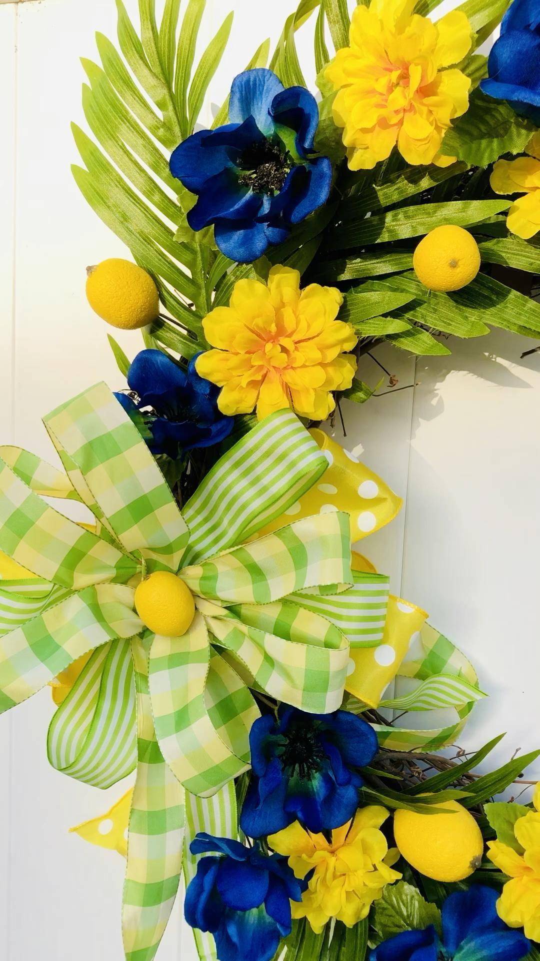 Fresh Lemons Wreath Beautiful Front Door Wreath Br
