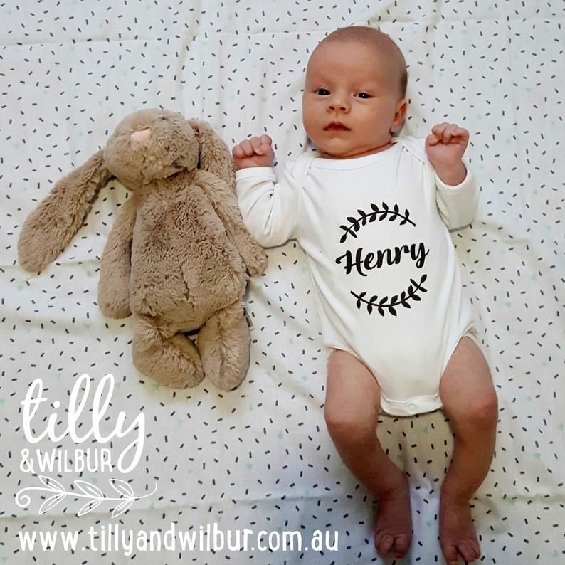 Newborn Gift, Baby Gift Personalised Baby Bodysuit For New Arrivals