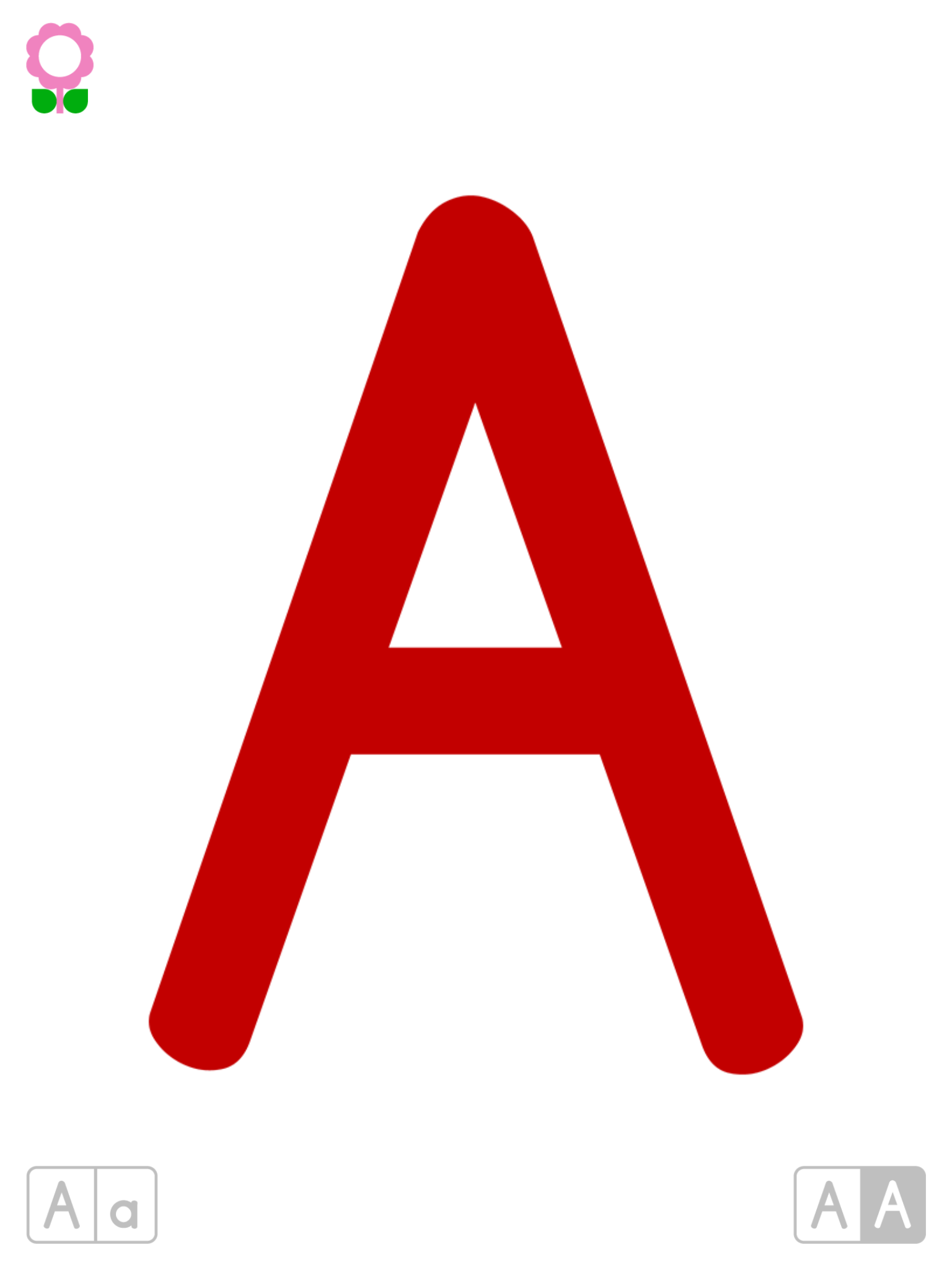 Colorful Abc Colorful Alphabets Flash Cards App With