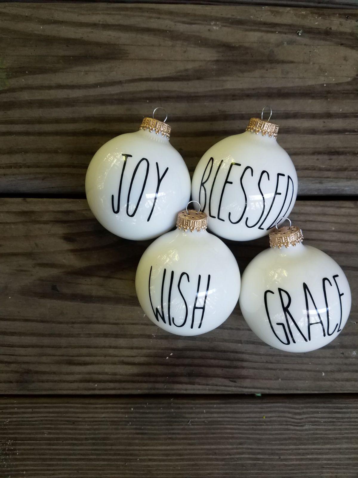 Rae Dunn Inspired Christmas Ornaments Christmas Diy Christmas