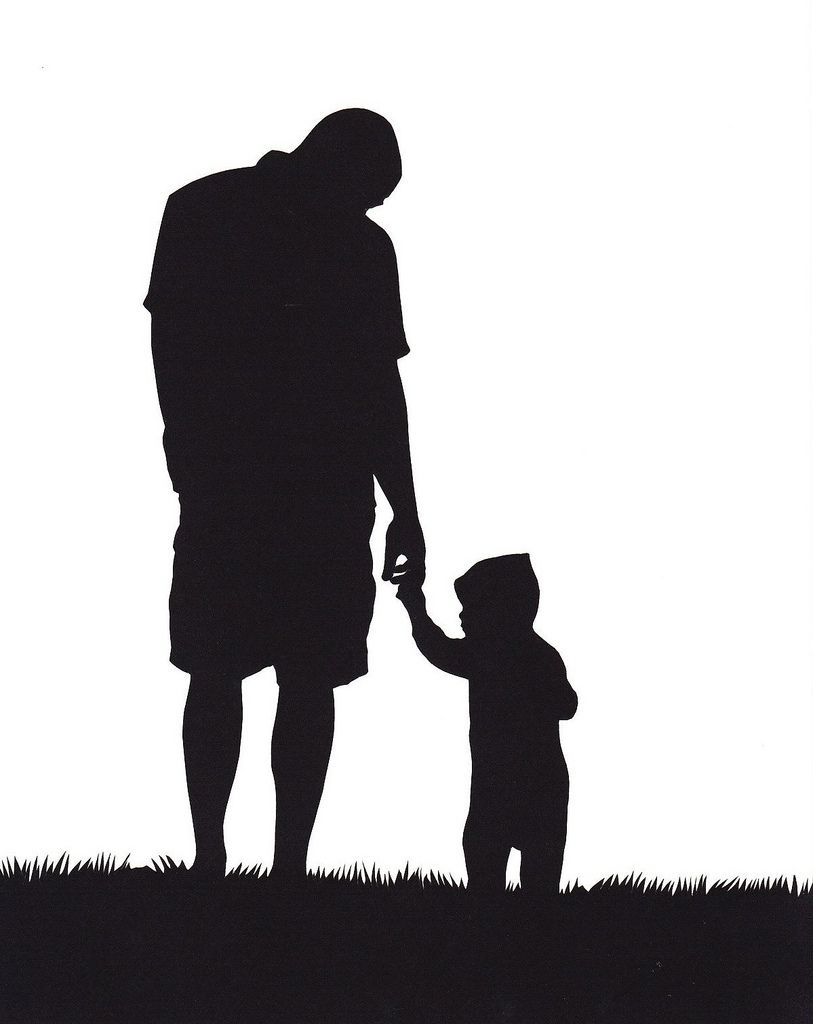 father and son silhouette | Tattoos | Father tattoos ...