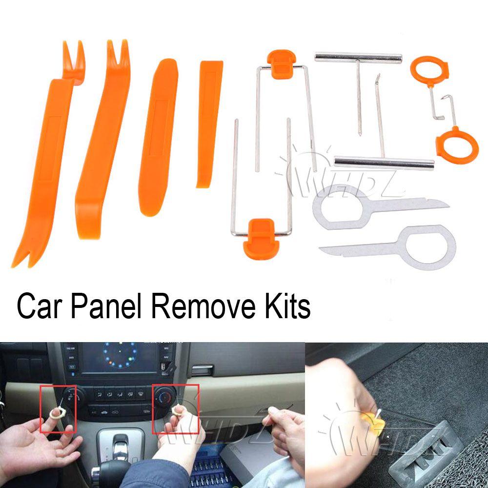WHDZ 12Pcs Plastic Car Panel Remove Kits Auto Radio Door Clip Panel