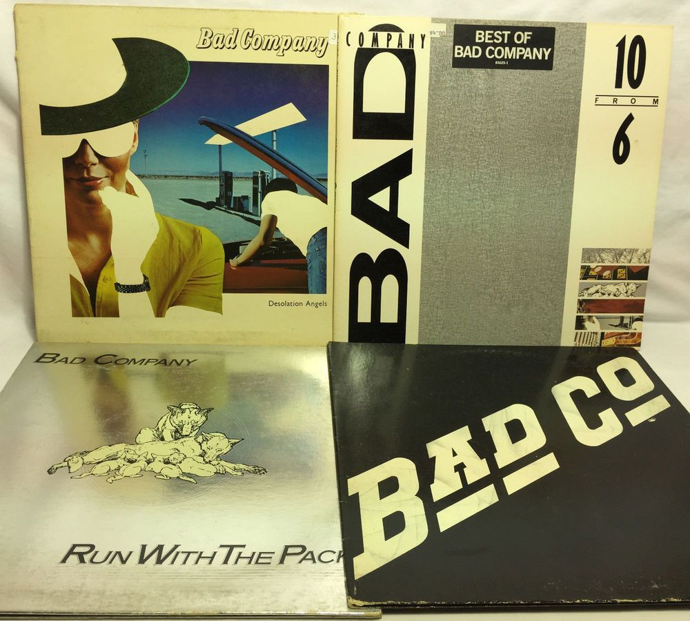 Bad Company Lot Of 4 Vinyl Record Albums Run W The Pack S T