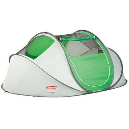 Coleman 4 Person Instant Pop Up Tent Green Walmart Com In 2021 Pop Up Tent 4 Person Tent Best Tents For Camping