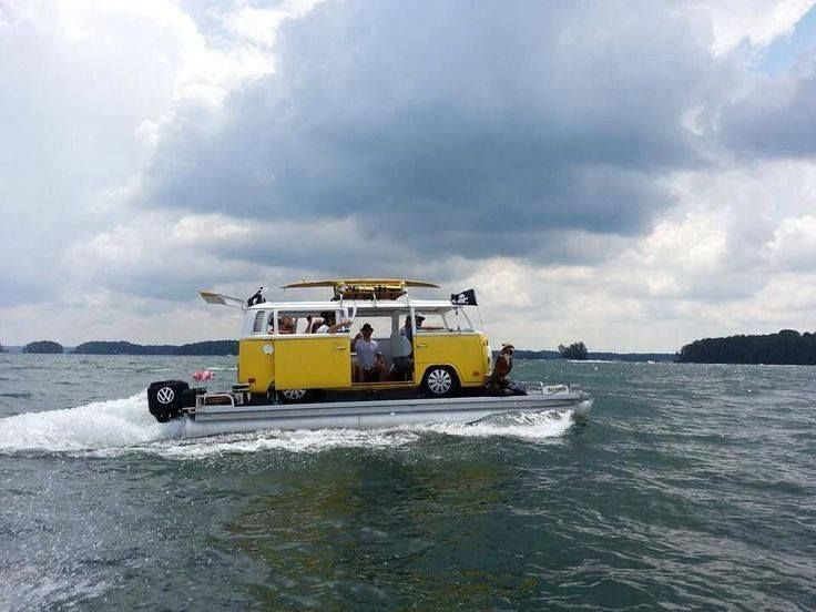 great!  drive my van onto a pontoon and have a houseboatvan,  wonderful-a whole new way to travel