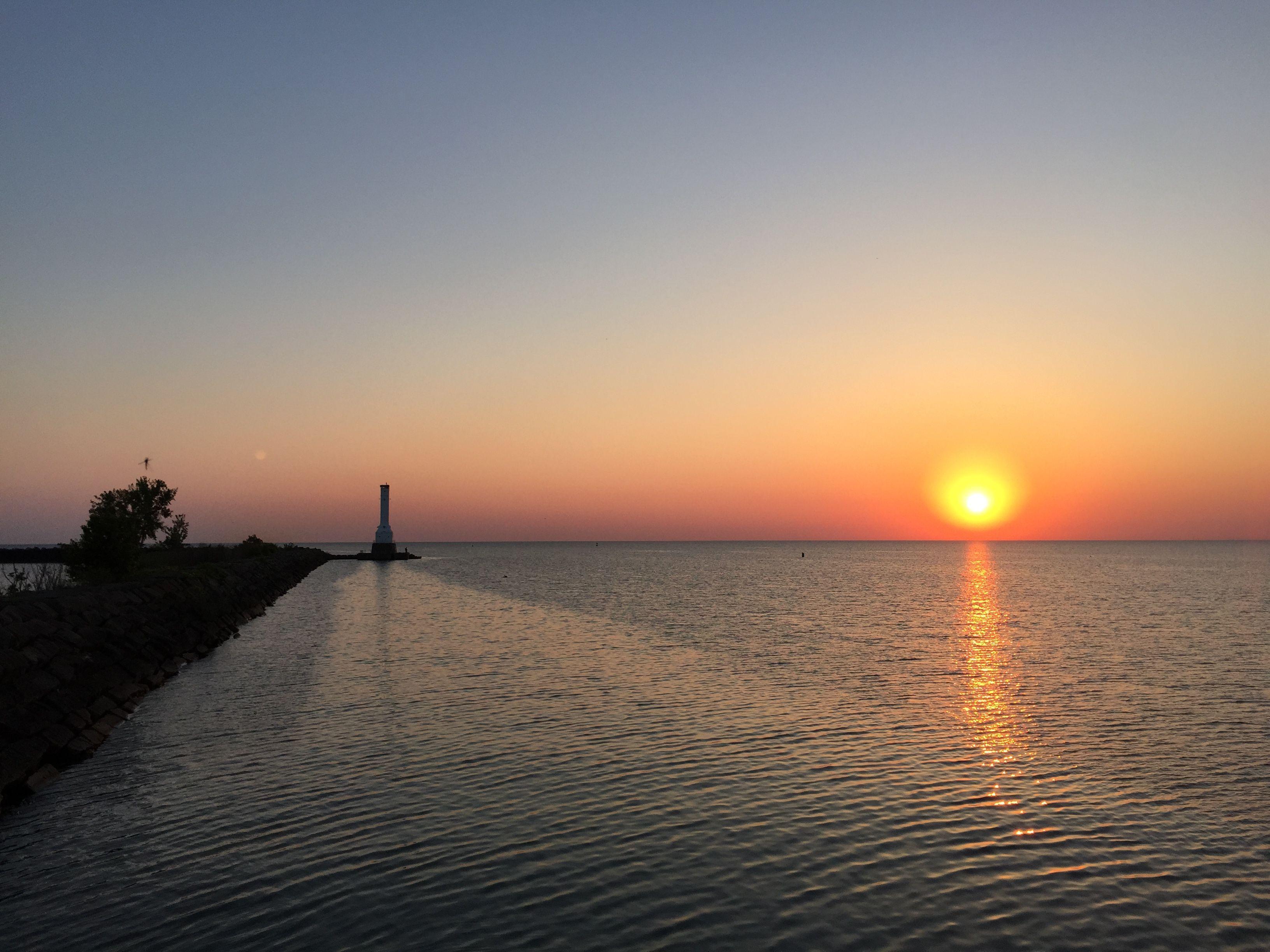 Sunrise At The Huron Pier Lighthouse