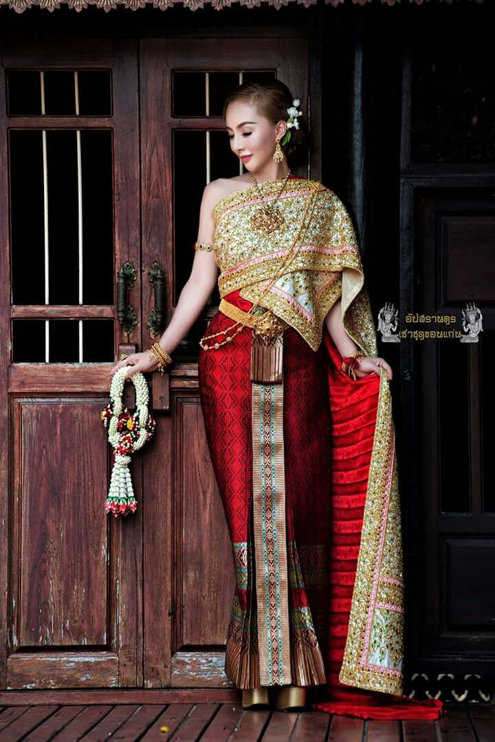 Beautiful traditional thai wedding dress gallery styles for Laos wedding dress for sale