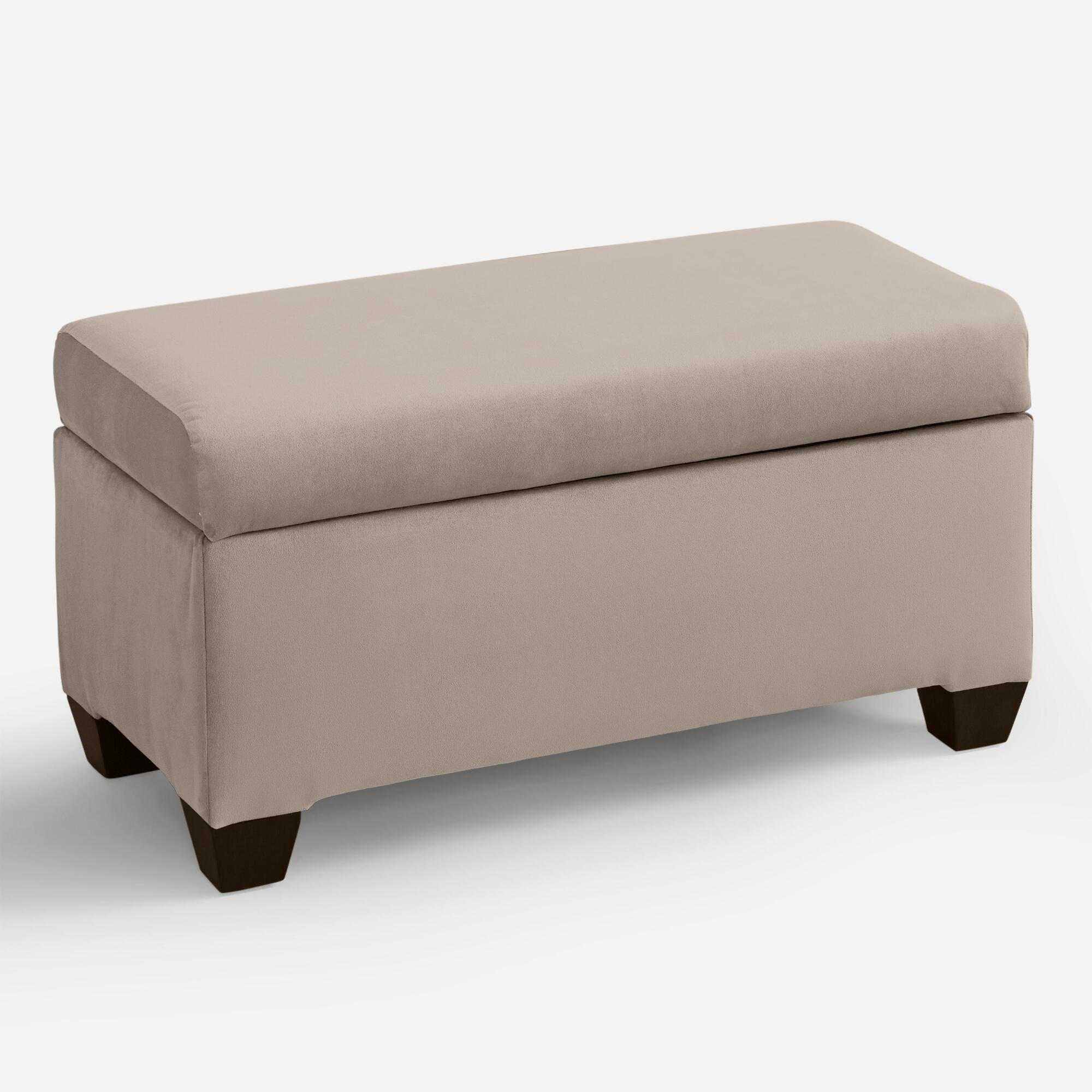 Pleasing Velvet Pembroke Upholstered Storage Bench Blue Fabric Andrewgaddart Wooden Chair Designs For Living Room Andrewgaddartcom