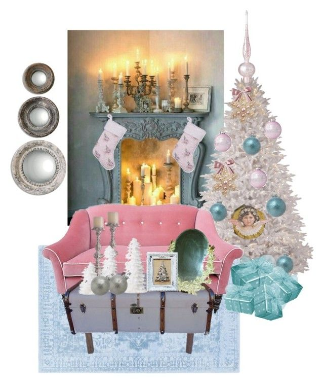"""""""Shabby Chic Christmas"""" by stephanie-mcclaran on Polyvore featuring interior, interiors, interior design, home, home decor, interior decorating and Shabby Chic"""