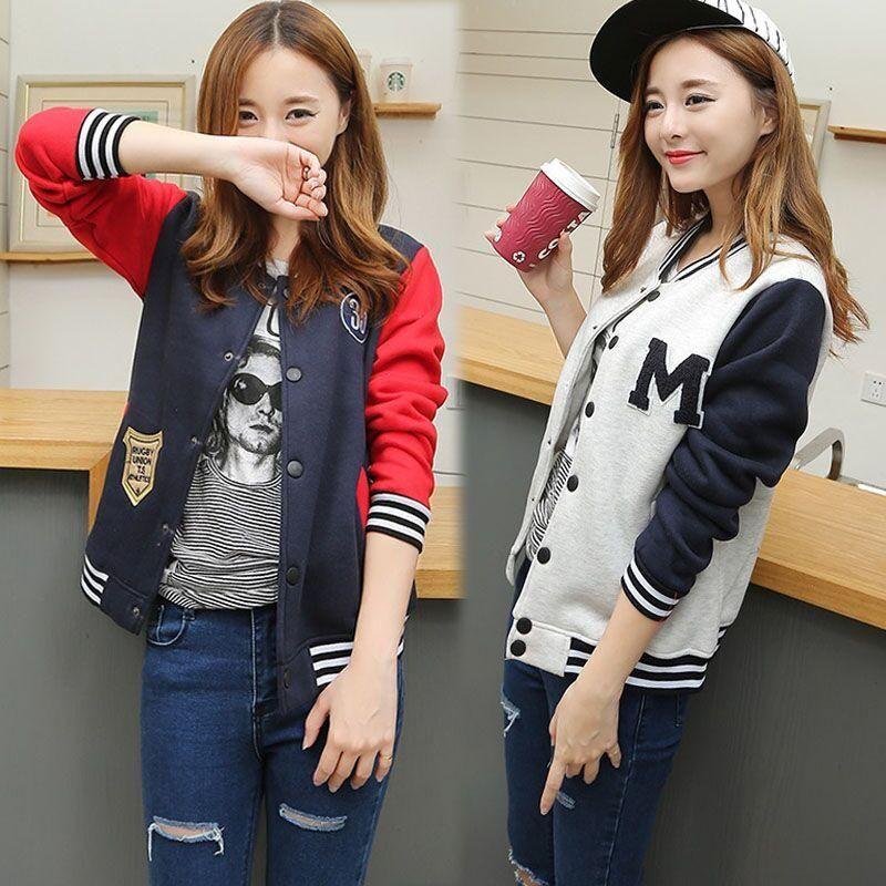 Korean Students Baseball Jacket Use Code Cherry Blossom Get 10 Off Everytime You Shop At Www Sanrense Com Japanese Street Fashion Korean Fashion Jackets