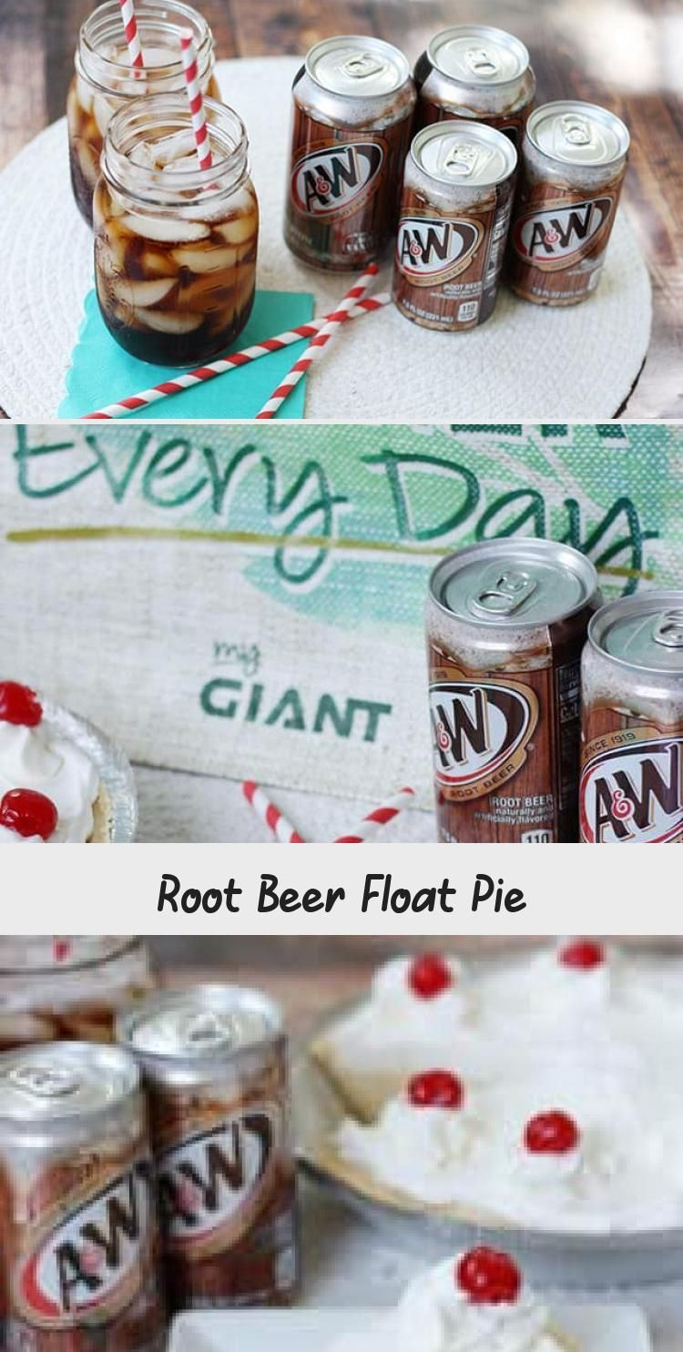 Root Beer Float Pie #rootbeerfloat This Root Beer Float Pie recipe is the perfect no-bake dessert for a family night! Shortbread crust with vanilla pudding, A&W® Root Beer, whipped cream, and cherries! #rootbeer #pie #nobake #dessert #recipe #DessertRecipesWithFruit #HolidayDessertRecipes #FastDessertRecipes #StrawberryDessertRecipes #DessertRecipesPie #rootbeerfloat