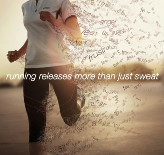 Running releases more than just sweat!