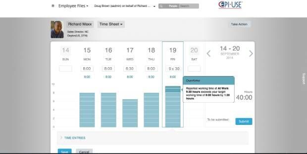 SuccessFactors Employee Central Payroll Time Sheet 1408 - Demo - employee timesheet